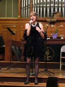Hey look - it's a woman - who sings
